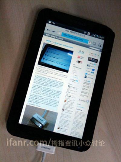 Samsung Galaxy Tab - первый конкурент iPad засветился в сети