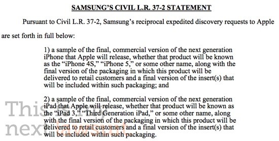 Samsung требует от Apple новые iPad 3 и iPhone 5 (4S)