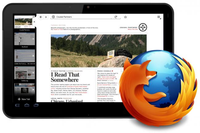 Mozilla готовит Firefox Mobile для планшетников