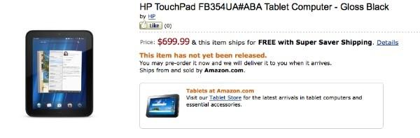 Планшет HP TouchPad 4G доступен для предзаказа