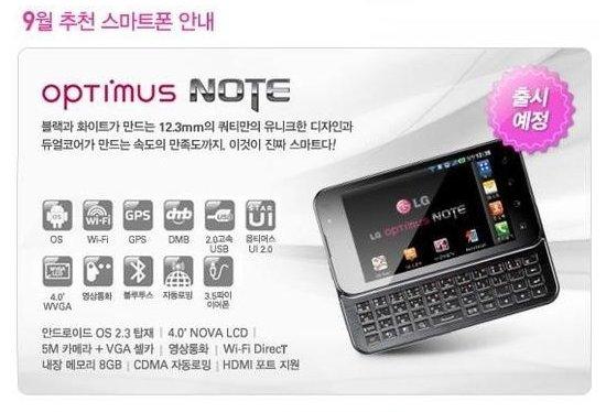 """Живые"" фото LG Optimus Note"