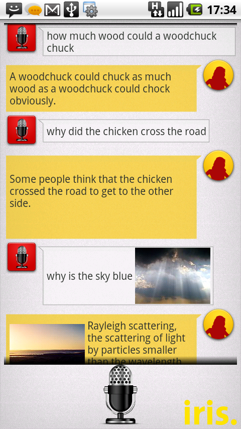 Iris - аналог Siri для Android устройств