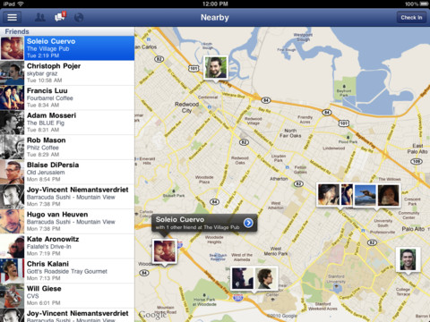Facebook теперь доступен и для iPad