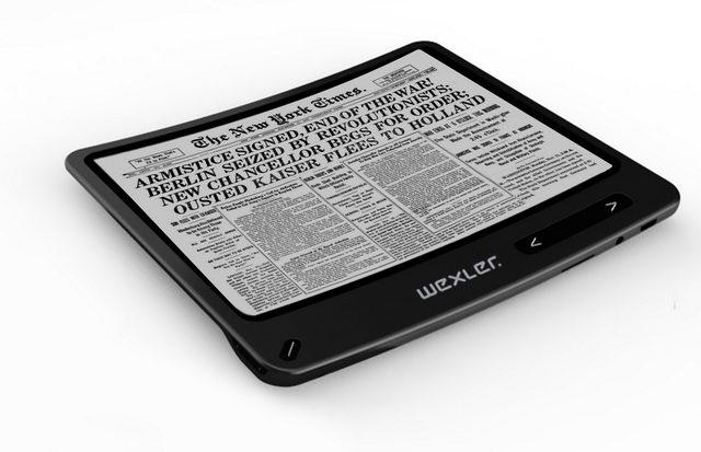 WEXLER.BOOK Flex ONE - первый гибкий ридер