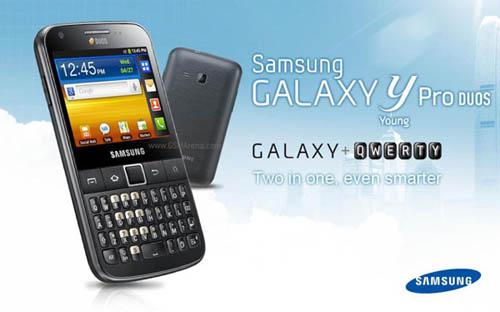 Фотографии смартфона Galaxy Y Pro Duos с двумя SIM-картами