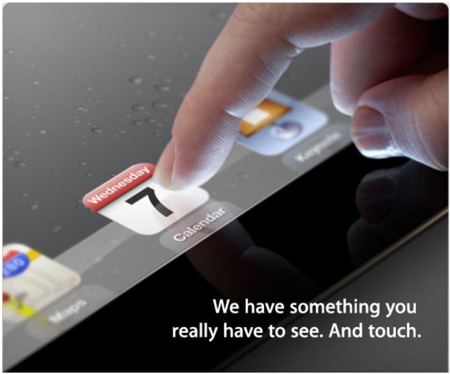 Apple разослала приглашение на презентацию iPad 3