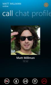 Выход бета-версии Skype для Windows Phone