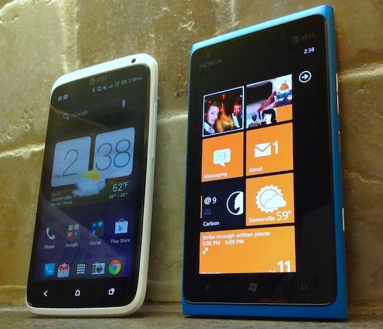 Видео-сравнение Nokia Lumia 900 и HTC One X