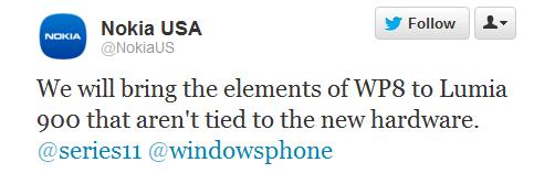 Nokia Lumia 900 получит обновление ПО и некоторые возможности новой WP8