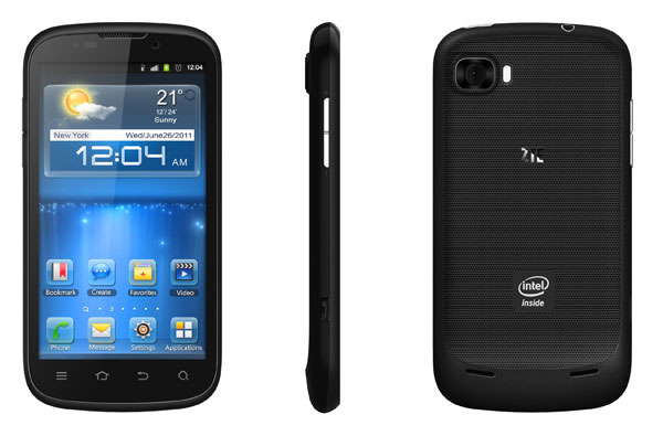 ZTE Grand X IN на платформе Intel Medfield