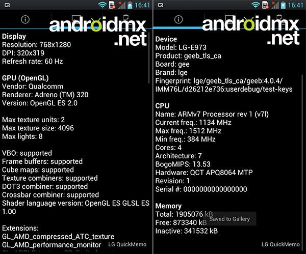 Характеристики и фото LG Optimus G