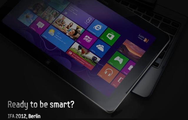 Samsung представила фото планшета на Windows 8