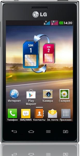 Продажи LG Optimus L5 Dual в России