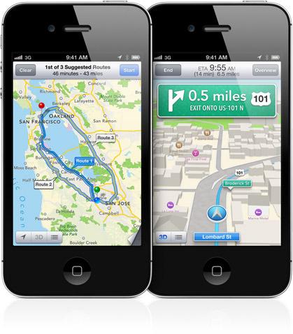 Apple использует технологию Яндекс в iOS 6