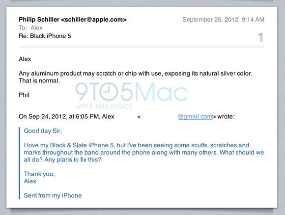 Apple прокомментировала облезающее покрытие iPhone 5
