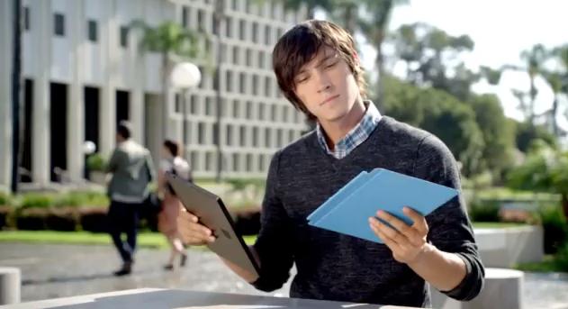 Телевизионная реклама планшета Microsoft Surface