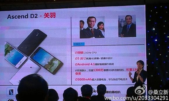 Huawei представила смартфон Ascend D2