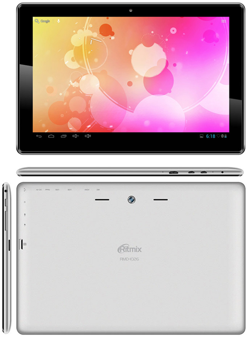 Планшет Ritmix RMD-1026 на Android 4.1 поступил в продажу