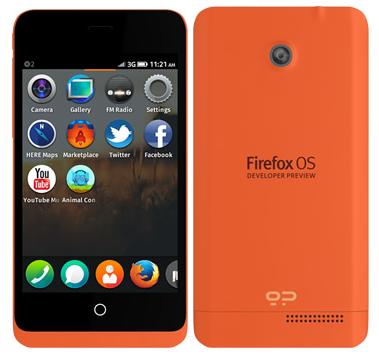 Mozilla представила смартфоны на Firefox OS
