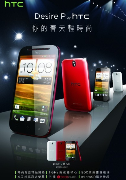Смартфоны HTC Desire P и Desire Q. Фото и некоторые характеристики