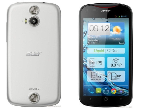 Смартфон Acer Liquid E2 с четырехъядерным процессором MediaTek MT6589