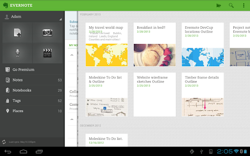 Evernote 5.0.4 для Android