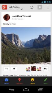 Клиент Google+ для Android получил обновление