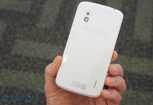 Google Nexus 4 в белом корпусе