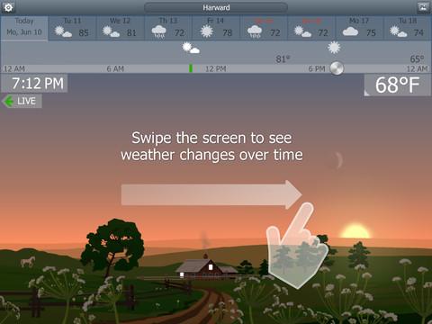 YoWindow - новое погодное приложение для iPad