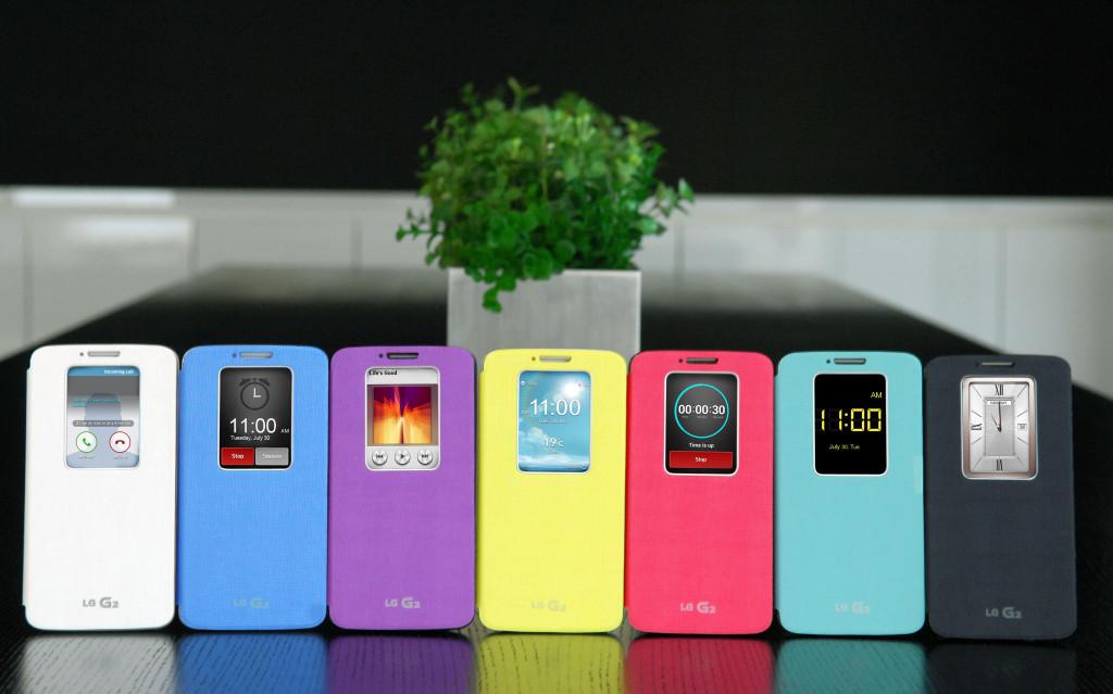 Чехлы QuickWindow для LG G2