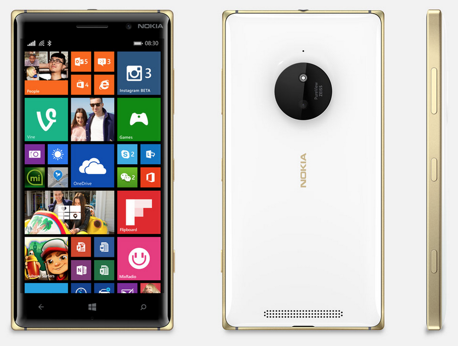 Lumia 830 Gold (white)