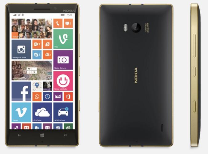 Смартфоны Lumia 930 Gold и Lumia 830 Gold вышли в России