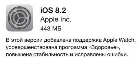 Apple выпустила iOS 8.2