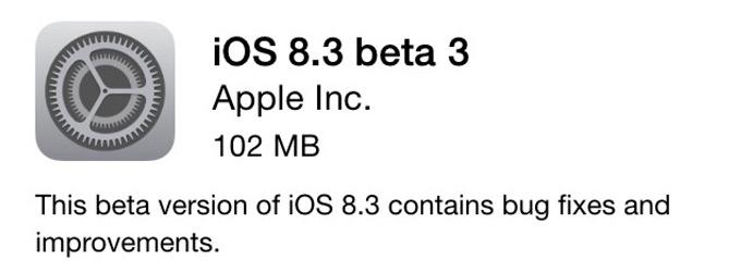 Apple выпустила iOS 8.3 beta 3 и начала публичное бета-тестирование