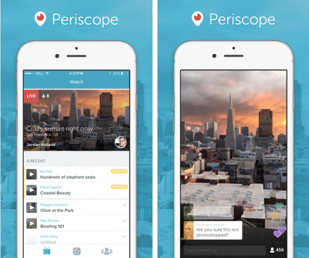 Twitter выпустил приложение для стриминга Periscope
