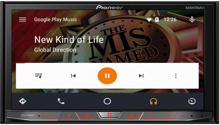 Pioneer представил медиаплеер AVH-4100NEX с поддержкой CarPlay и Android Auto