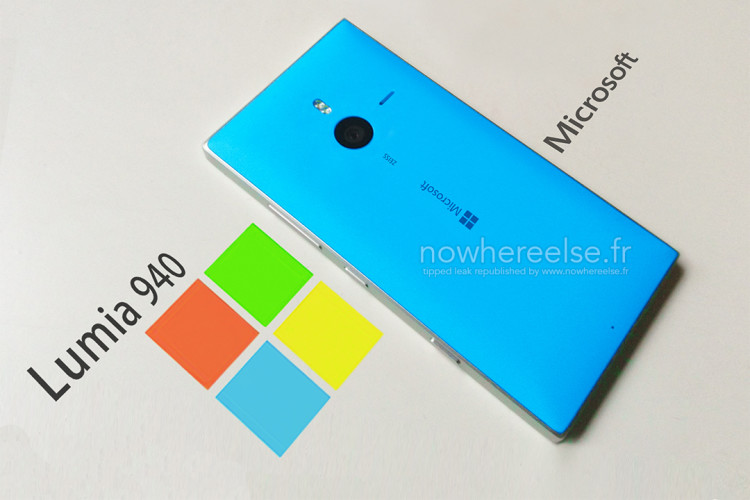 Новый флагман Microsoft Lumia 940 засветился на фото