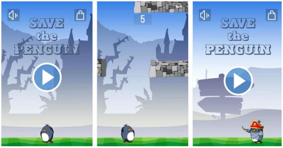 Save the Penguin - помогите пингвину в новой аркаде для Android