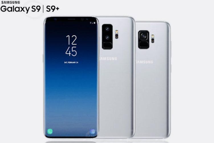 Появились первые рендеры Samsung Galaxy S9 и Galaxy S9+