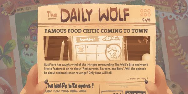 Создайте ресторан Серого Волка в игре The Wolf's Bite уже 12 апреля