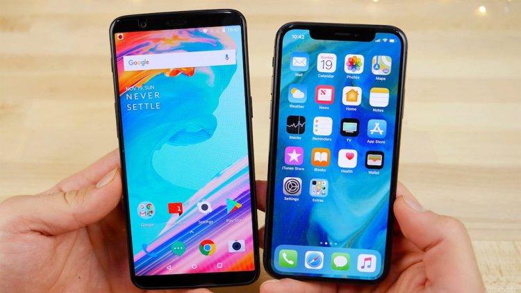 Кто быстрее: OnePlus 5T, iPhone X или Galaxy S9+