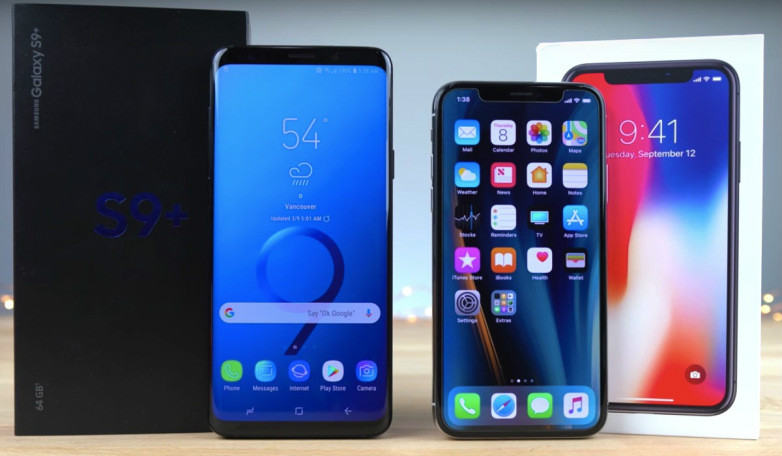 Samsung Galaxy S9 Plus против iPhone X - какой смартфон прочнее