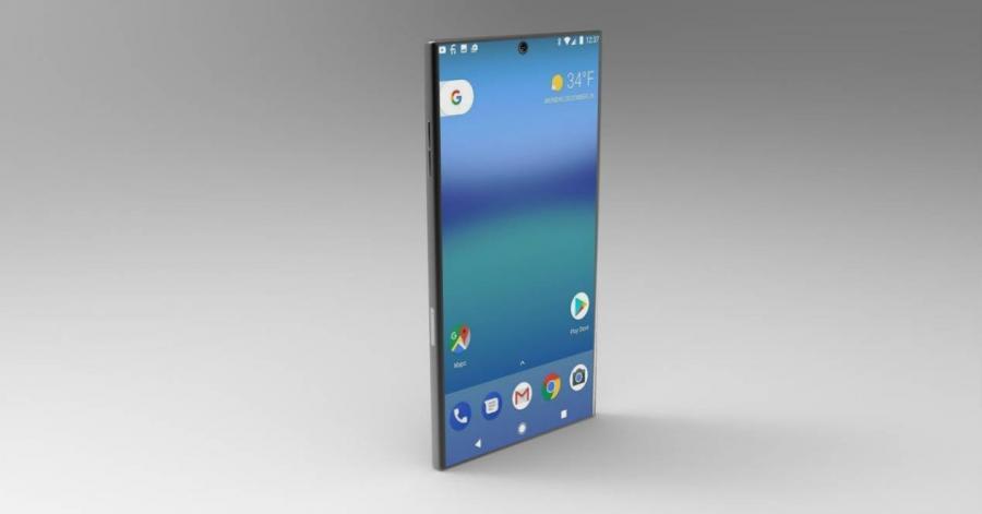Возможный дизайн Sony Xperia XZ2 Pro