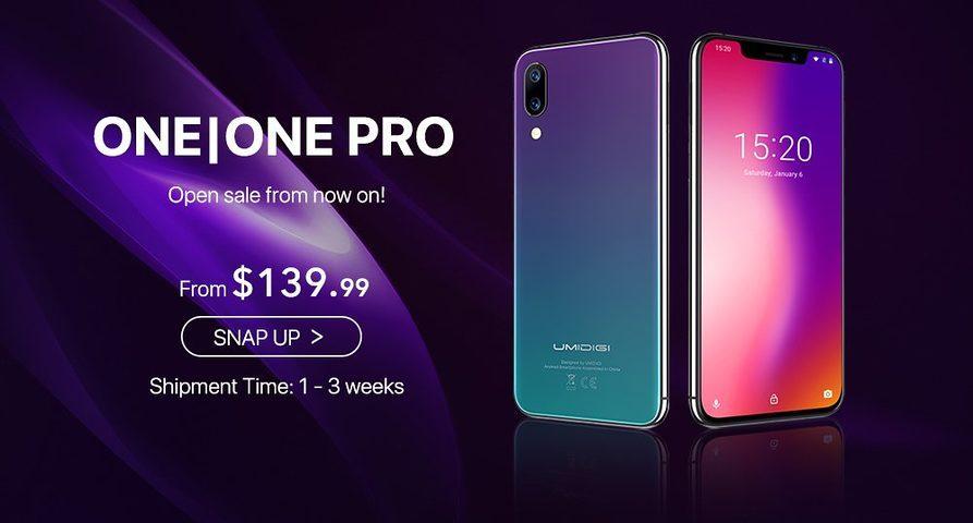 Эксклюзивная распродажа смартфонов UMIDIGI One и One Pro