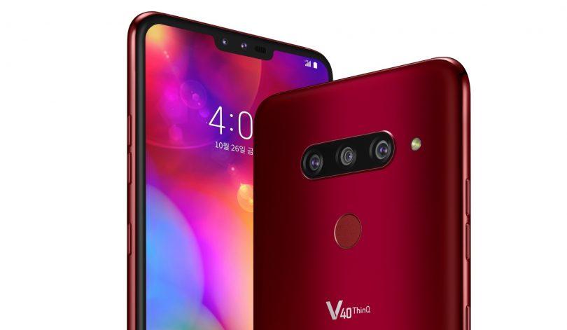 LG представила флагманV40ThinQ спятью камерами и32-битным ЦАПом