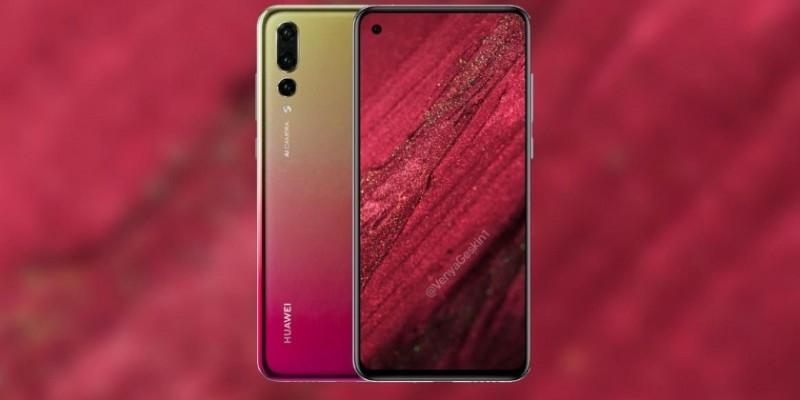 Huawei Nova 4 с 48 Мп камерой и вырезом в дисплее появился на новых рендерах
