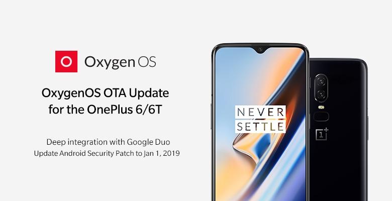 Смартфоны OnePlus 6T и OnePlus 6 начали получать обновление OxygenOS