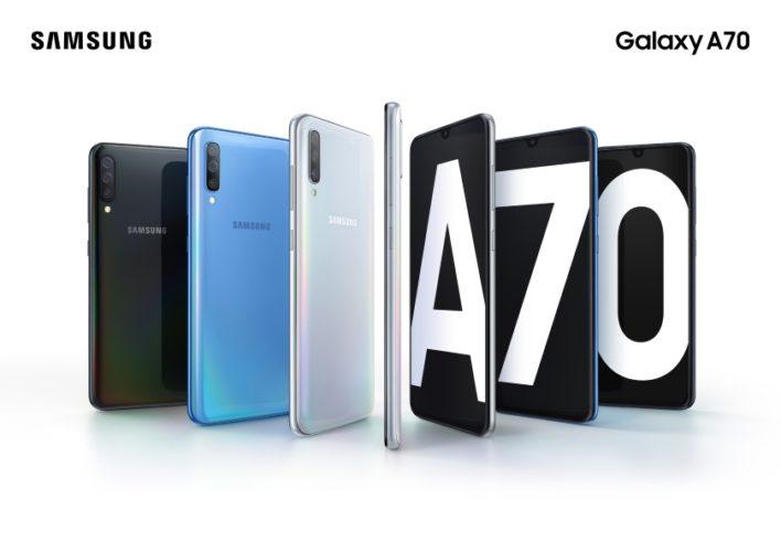 Samsung представила долгоиграющий смартфон Galaxy A70 с большим экраном